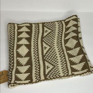 Woolrich infinity scarf Brown/tan Aztec print